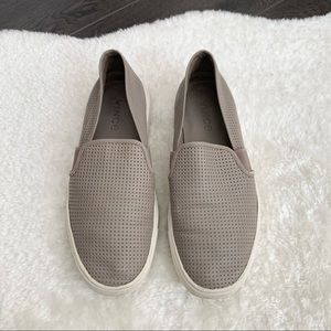 VINCE Blair Perforated Sneakers Grey